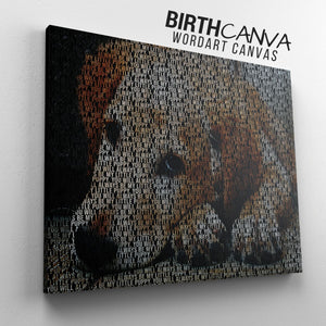 Personalized Pet WordArt Canvas