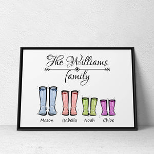 Family Poster - Boots Style
