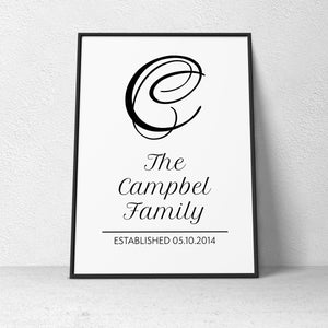 Family Poster - Big Letter Style