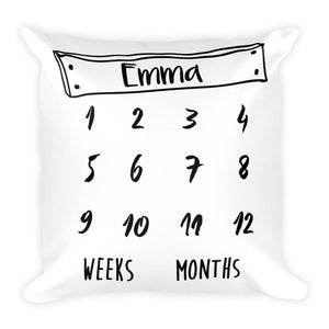 Personalized Milestone Pillow Stars