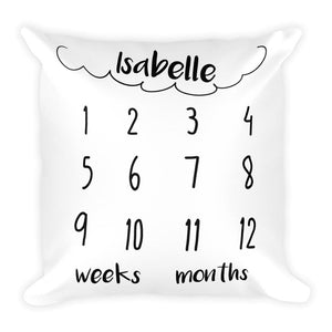 Personalized Milestone Pillow Cloud
