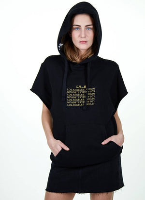 LA_B City Hoodie black woman