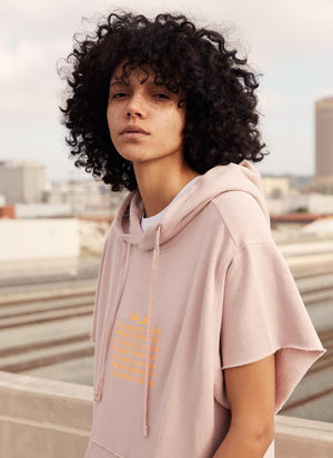 LA_B City Hoodie tech rose women