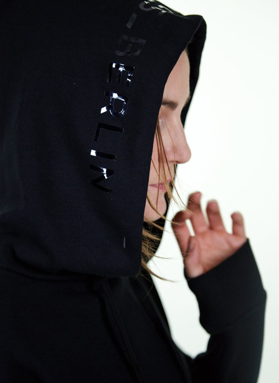 LA_B Cropped Hoodie City woman