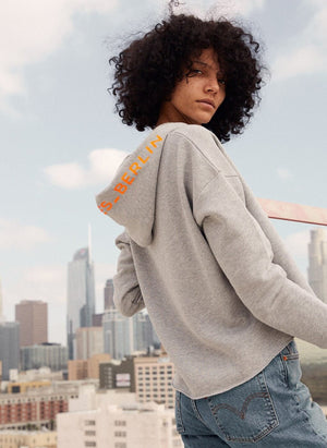 LA_B Hoodie Cropped City woman
