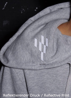 LA_B Big Data Hoodie grey men