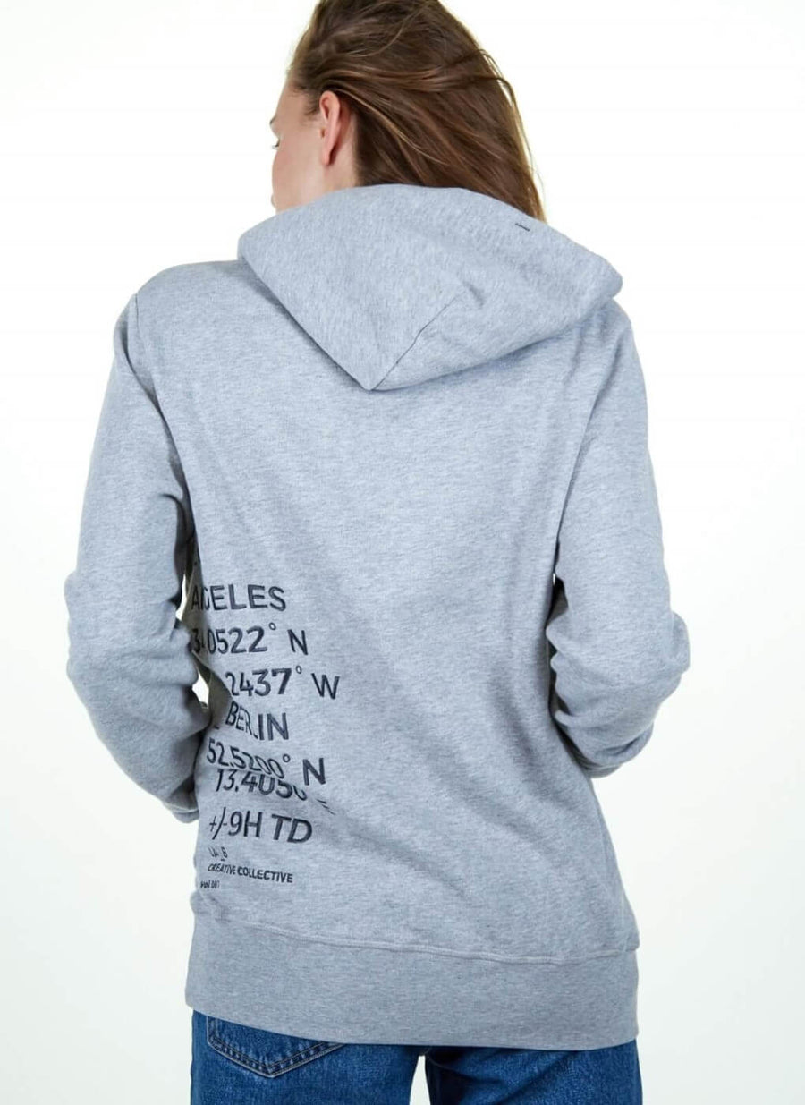 LA_B Big Data Hoodie grey Woman