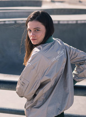 LA_B Coated Tyvec Jacket Platinum Woman
