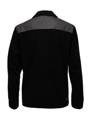 LA_B Ripstop Canvas Shirt Jacket Anthracite Reflective women