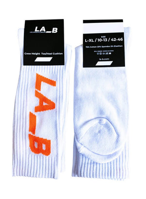 LA_B Socks White Orange