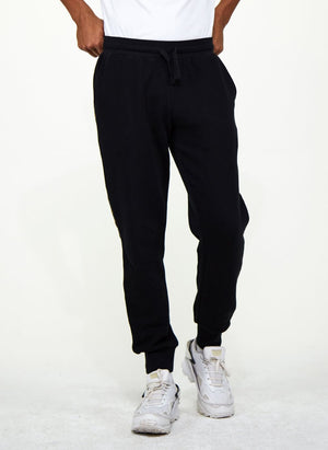 LA-B Logo Stripe Sweatpants Gold Reflective men