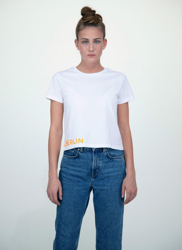 LA_B Cropped T-shirt City Neon orange