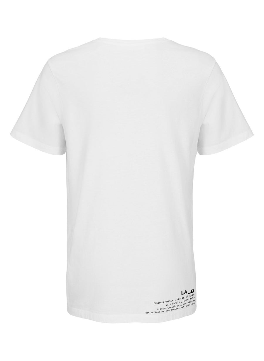 LA_B Kontraste T-Shirt white men