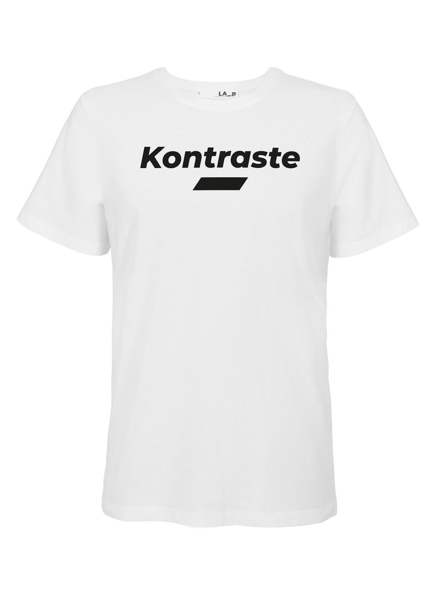 LA_B Kontraste T-Shirt white women