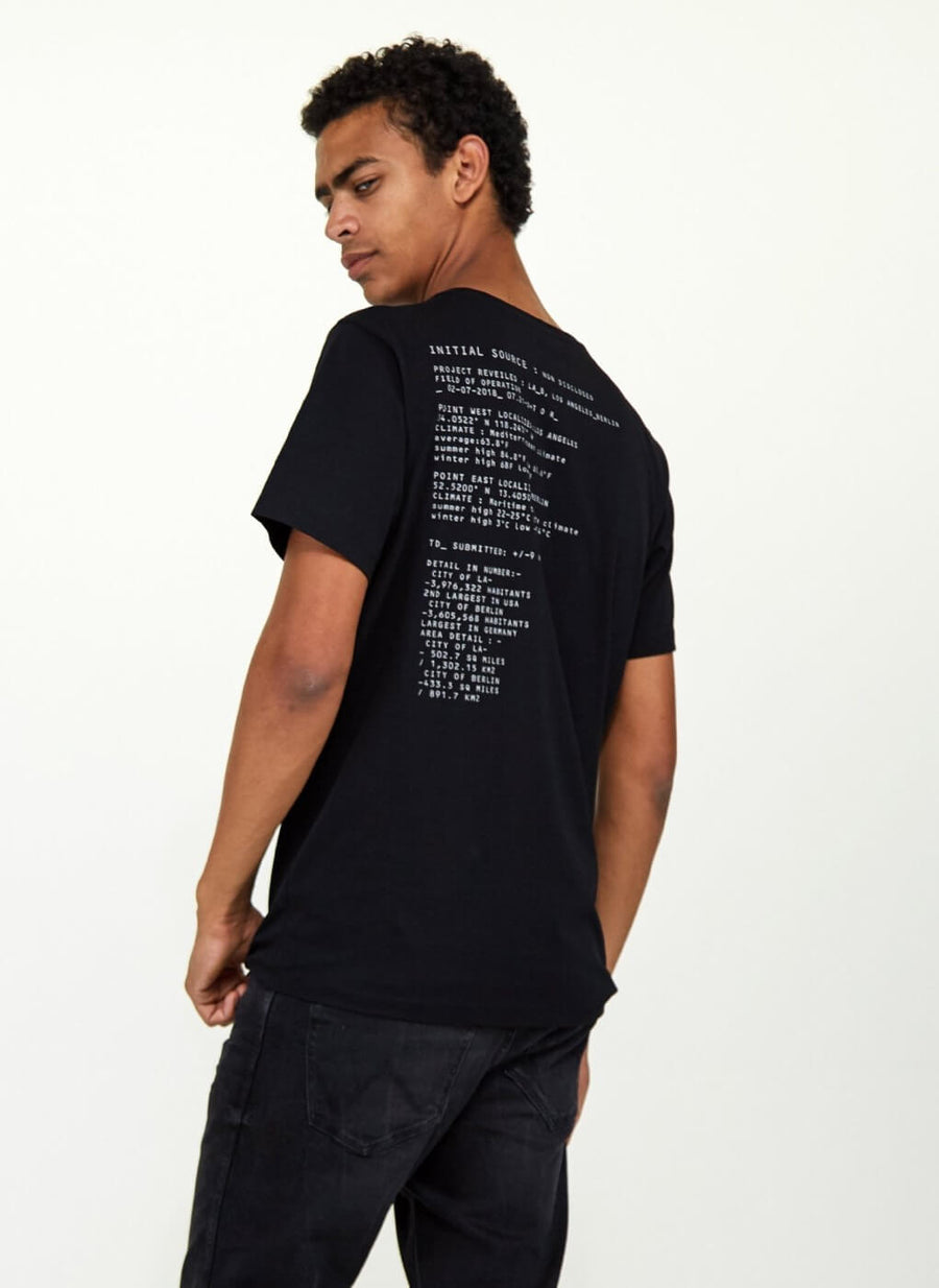 LA_B Small Data T-Shirt black men