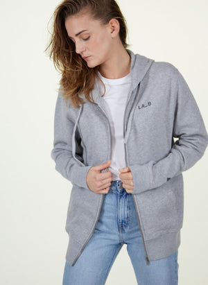 LA_B Classic Hoodie Heather Grey women
