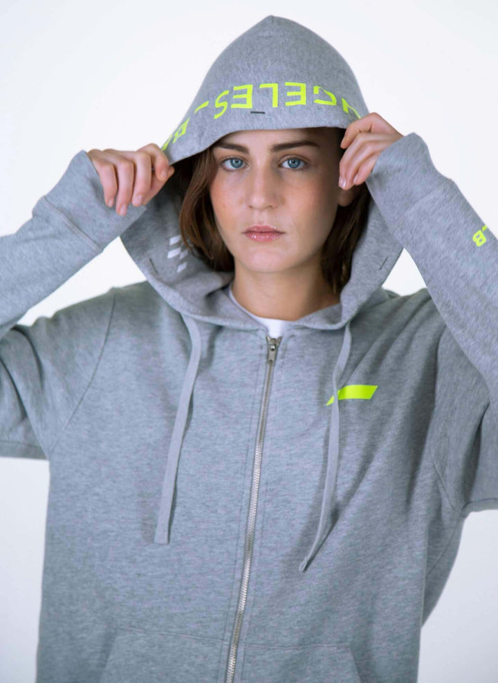 LA_B Classic City Hoodie Heather Grey women