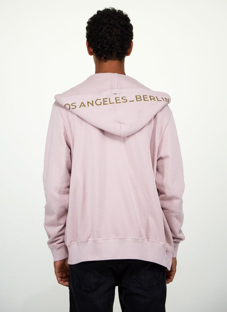LA_B Classic City Hoodie Jacket Tech Rose Men