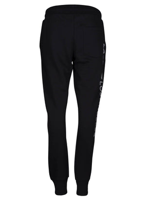 LA_B Anthracite Logo Stripe Sweatpants Men Black