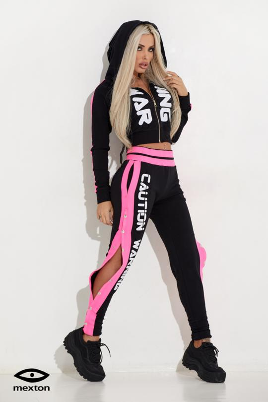 ACTIVEWEAR SET WITH PINK NEON INSERTS  7191/7192