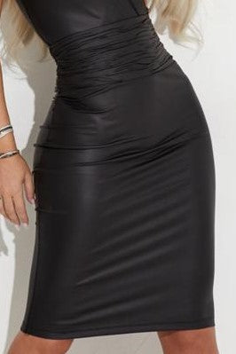 LEATHER SKIRT 7205F