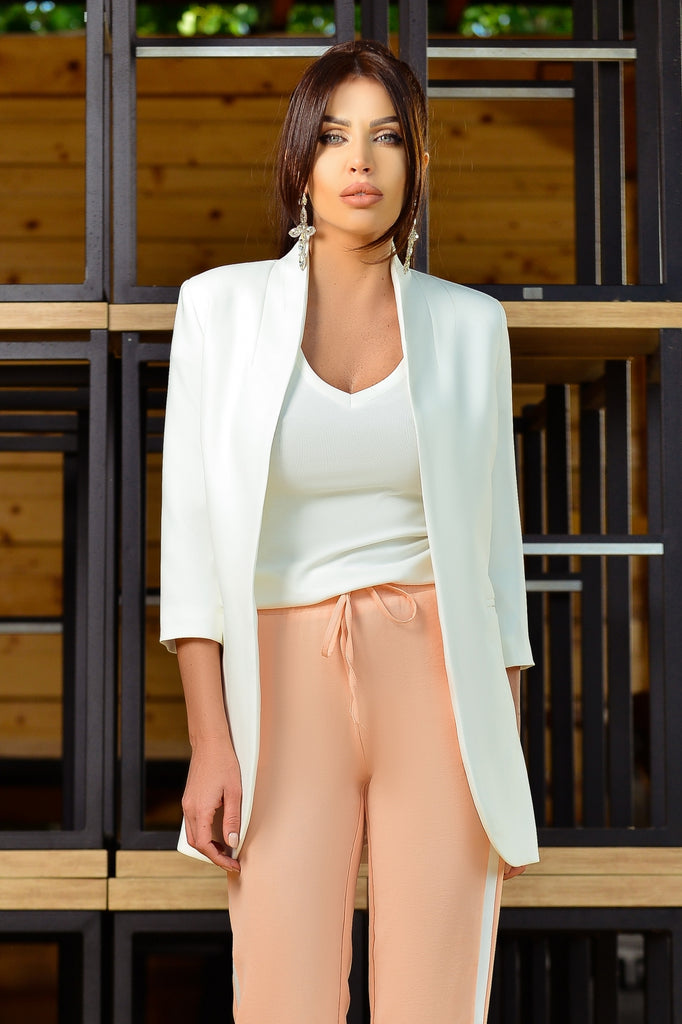STYLISH WHITE BLAZER S 1161