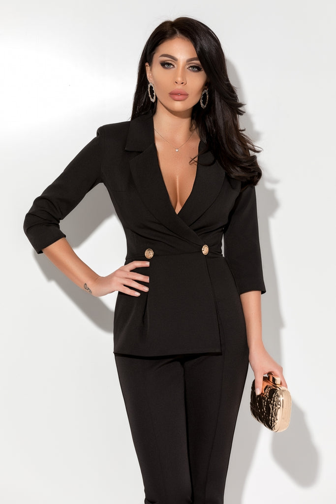 STYLISH BLACK JUMPSUIT SL 963