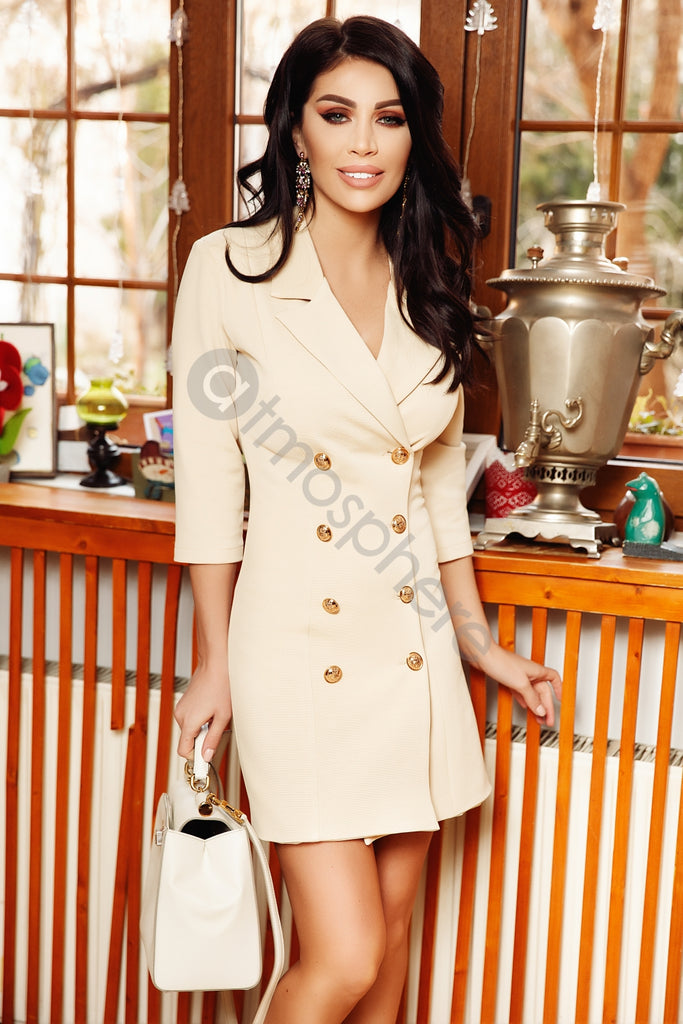 ELEGANT BLAZER DRESS WITH BUTTONS RN 2145B