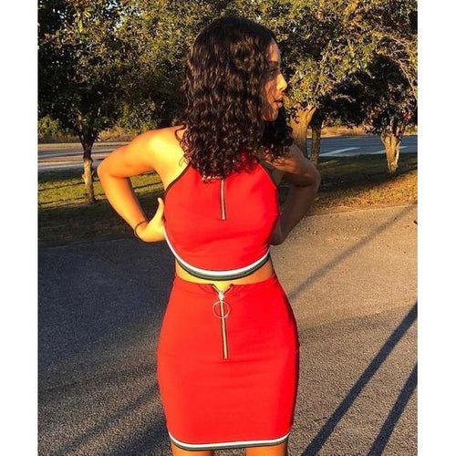 Candy Red Sporty Set - Delirious Boutique