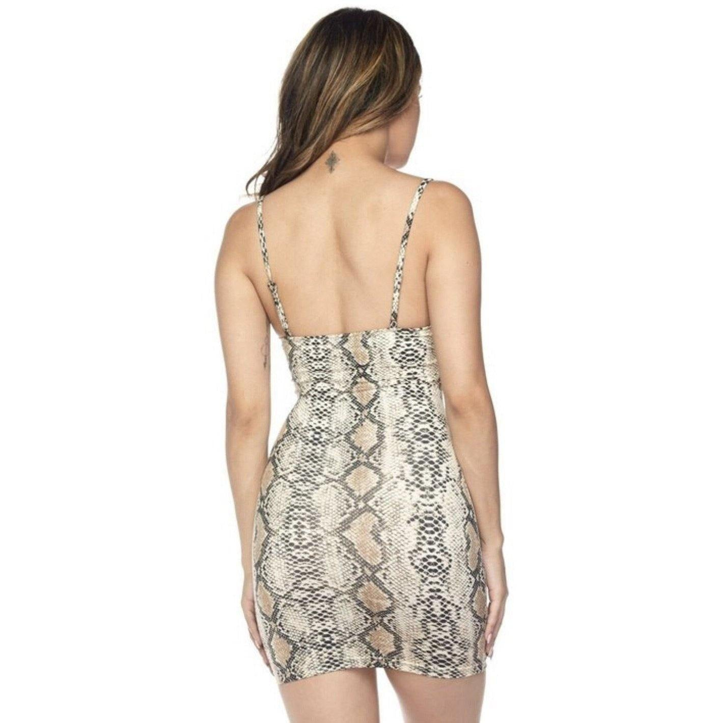 Python Print Dress - Delirious Boutique
