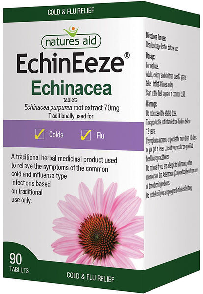 2-Pack, EchinEeze Echinacea Extract 90 Tabs, Natures Aid, Duo Bundle