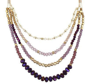 Sandra Necklace - Purples