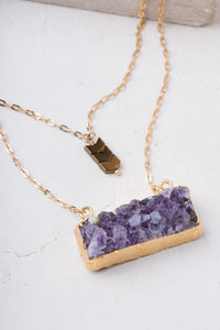 Cissie Purple and Gold Layer Necklace