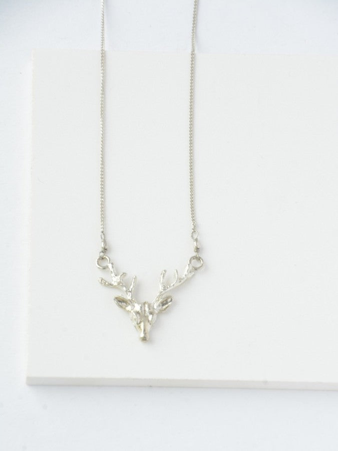 Deborah Deer Necklace-Silver