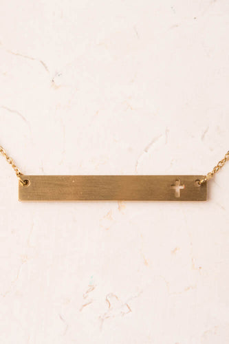 Regina Cross Bar Necklace