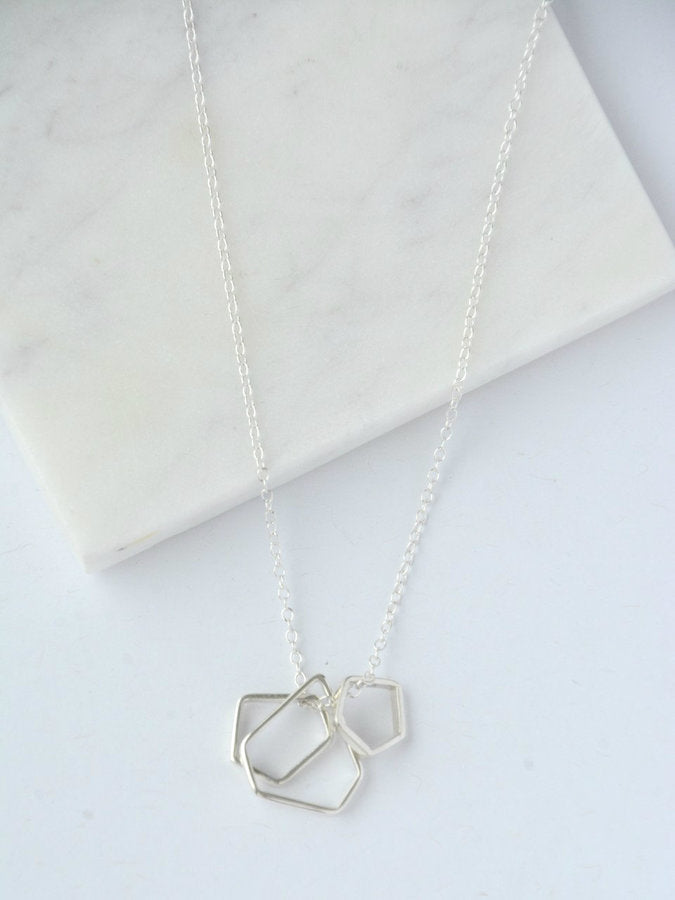 The Love of 3 Sterling Silver Necklace