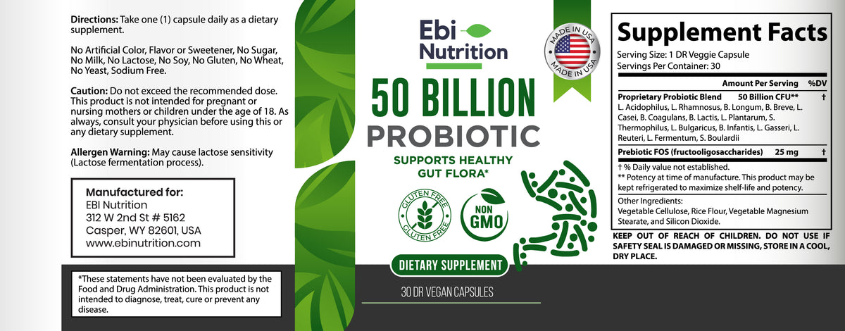 50 Billion CFU Probiotic Prebiotic