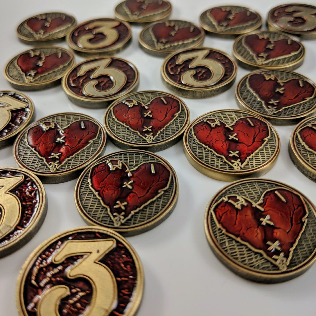 Wounded Heart - Metal Health/Wound Tokens - Luxury Playstyle