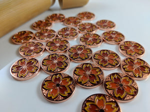 Custom Token - Autumn Garden Sakura Coin - Unofficial L5R LCG Fate/Honor Metal Token