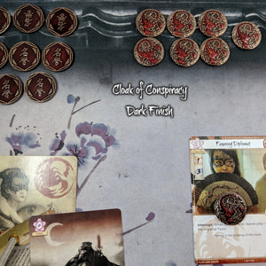 Custom Token - Conspiracy & Victory Scorpion Coins - Limited Edition - Unofficial L5R LCG Luxury Fate Token