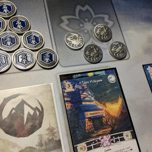 Custom Token - Crab & Honor Metal Coin - Unofficial L5R LCG Luxury Fate Token