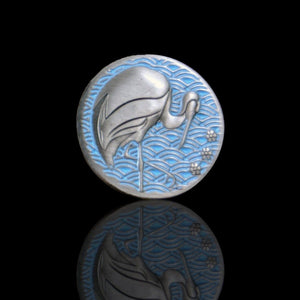 Custom Token - Crane & Honor Metal Coin - Unofficial L5R LCG Luxury Fate Token