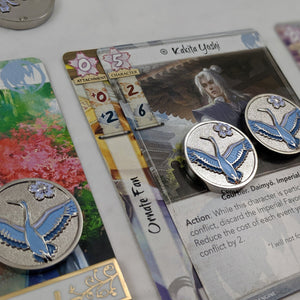 Custom Token - Crane Resplendence - Metal Fate Tokens