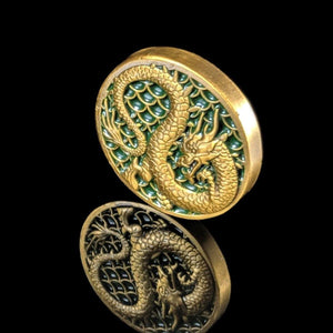 Custom Token - Dragon & Honor Metal Coin - Unofficial L5R LCG Luxury Fate Token