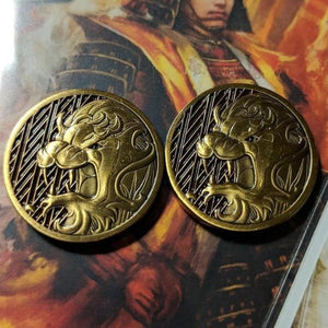 Custom Token - Lion & Honor Metal Coin - Unofficial L5R LCG Luxury Fate Token