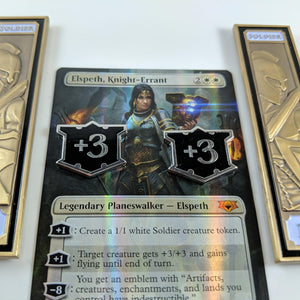Custom Token - Loyal Allegiance Luxury Counters - Unofficial Metal Token Set (5) For Magic Collectors