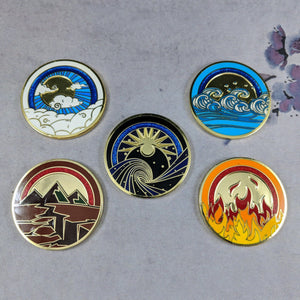 Custom Token - Prize Elemental Rings - Metal Element Ring Tokens