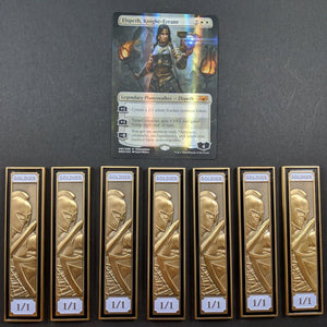 Custom Token - Prize Soldier Creature Token - Unofficial Luxury Metal Token For Magic Collectors