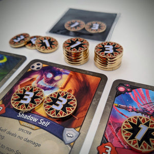 Custom Token - Savage Blow Damage Tokens - Unofficial Damage Counters Compatible With KeyForge