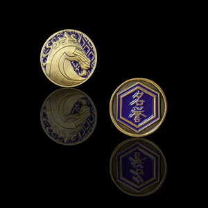 Custom Token - Unicorn & Honor Metal Coin - Unofficial L5R LCG Luxury Fate Token